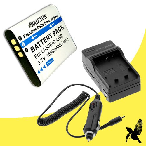 hium Ion Replacement Battery and Charger Kit for Pentax WG-20 Waterproof Digital Camera and Pentax D-LI92 ()