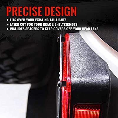 """Xprite """"American US Flag"""" Tail Light Covers Guards Protectors for 2007-2020 Jeep Wrangler JK Unlimited Accessories -Pair: Automotive"""