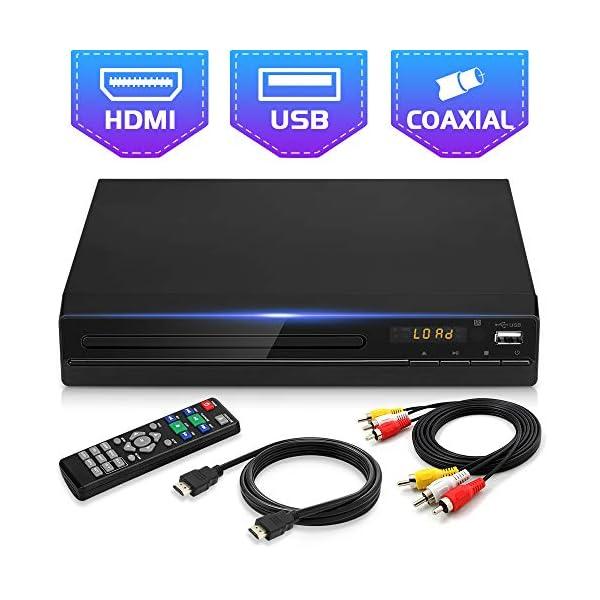 Jinhoo DVD Player for TV, All Region Free DVD CD Disc Player with HDMI & AV...