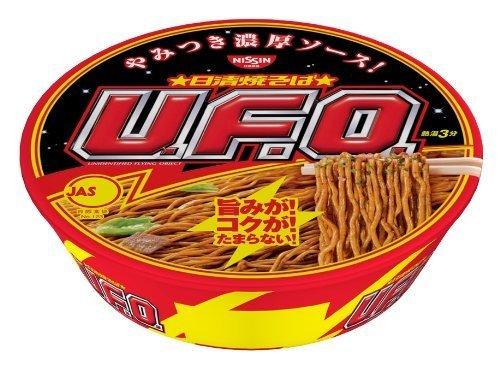 Japanese Instant Pan-fried Noodles UFO 4.5ozÃÂ-12cups nissin Yakisoba U.f.o. 129gÃÂ-12cups by Nissin