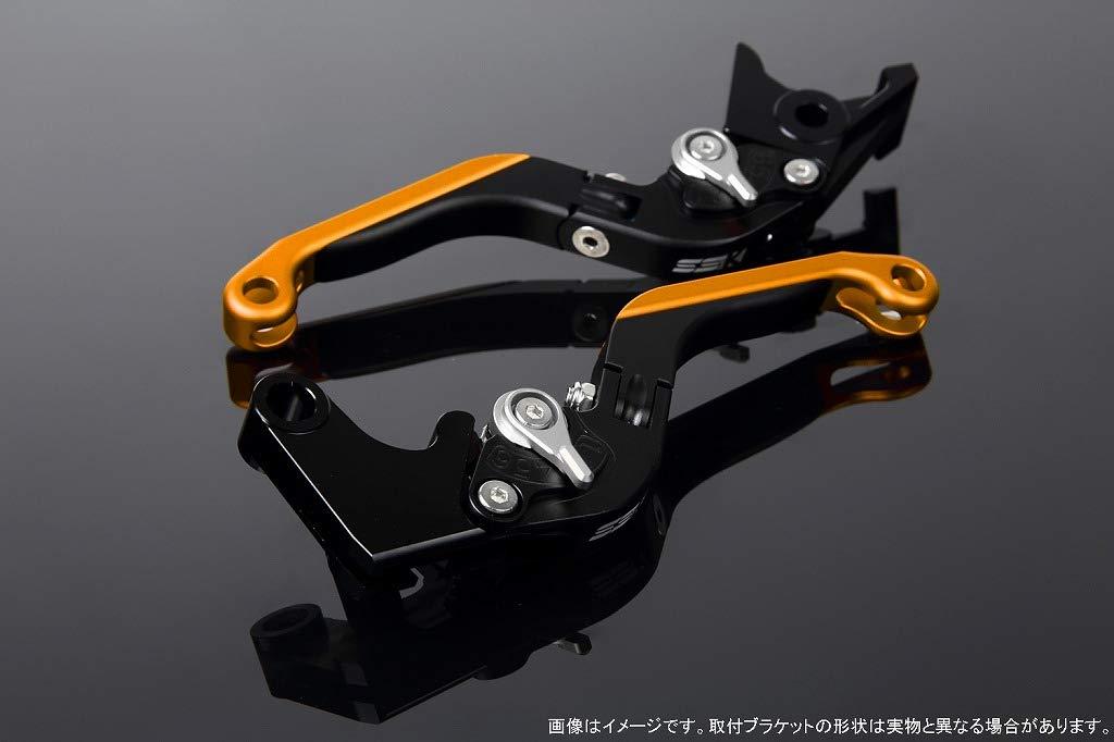 SSK アジャストレバー 可倒延長式 レバー本体カラー:マットブラック アジャスターカラー:マットシルバー エクステンションカラー:マットゴールド LVGM029BK-SRGD B07MXB5SFF