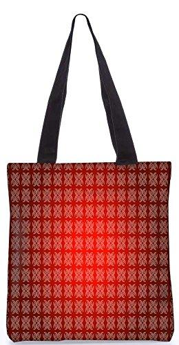 """Snoogg Abstrakt Rot Design-Muster-Einkaufstasche 13,5 X 15 In """"Einkaufstasche Dienstprogramm Trage Von Polyester Canvas"""