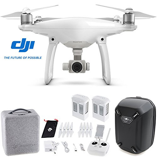 DJI Phantom 4 Quadcopter Drone w/ Hardshell Backpack + Spare Intelligent Flight Battery Bundle
