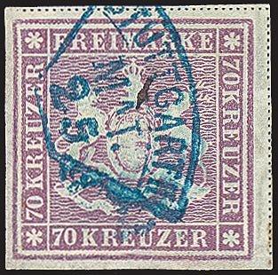 Goldhahn Württemberg Nr. 42 gestempelt Briefmarken für Sammler