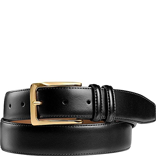 Johnston & Murphy Mens Smooth Basic Belt (42 - Black) -