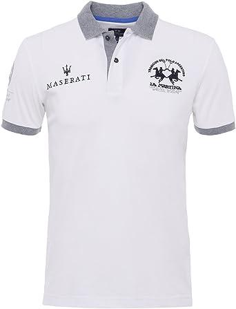 La Martina Hombres Camisa de Polo Slim Fit Anselm óptica XXXL: Amazon.es: Ropa y accesorios