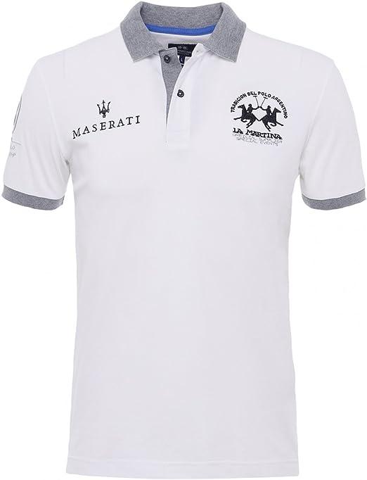 La Martina Hombres Camisa de Polo Slim Fit Anselm óptica XXXL ...