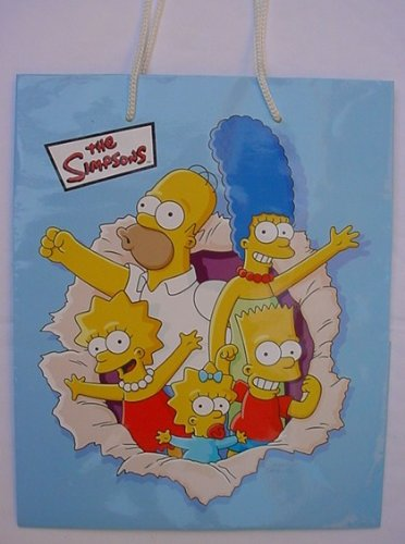 BART HOMER MARGE LISA & MAGGIE SIMPSON The Simpsons Gift Bag COMPLETE FAMILY ()