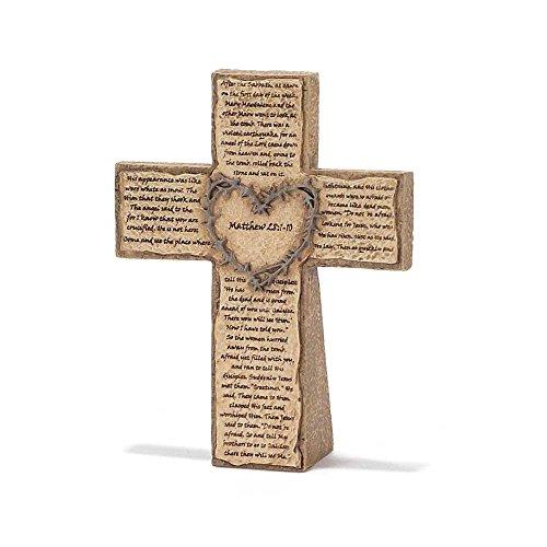 Dicksons Crown of Thorns - Easter Story Resin Tabletop Cross