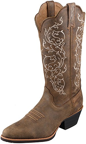 Twisted X Womens Bomber Leather 12in Embroidered Western Cowboy Boots 8.5B ()