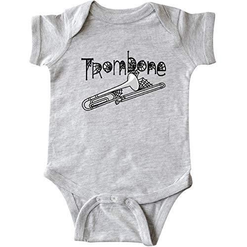 inktastic - Trombone Halloween Infant Creeper 12 Months Heather Grey 2c792 ()