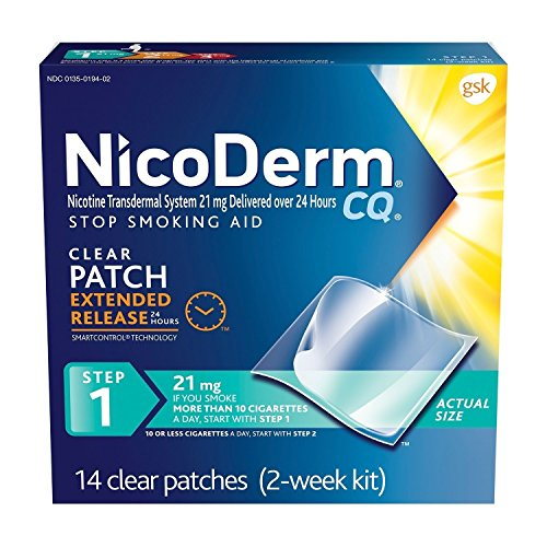 (NicoDerm CQ Step 1 Clear Patch, 21 mg, 2-Week Kit (14)