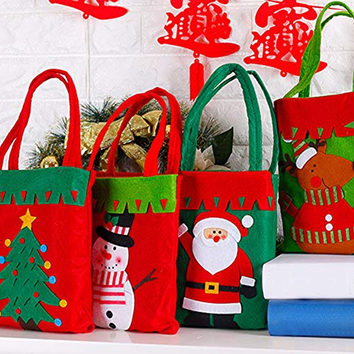 YaptheS Christmas Candy Bags Small Handbag Gift Treat Goodie Tote Bag for Kids Children Home Decorations Shopping (Santa Claus) Christmas Gift by YaptheS (Image #1)