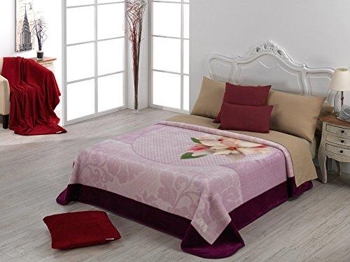 European - Made in Spain warm blanket Mora Gold 220x240 Morado Color by MORA Blankets