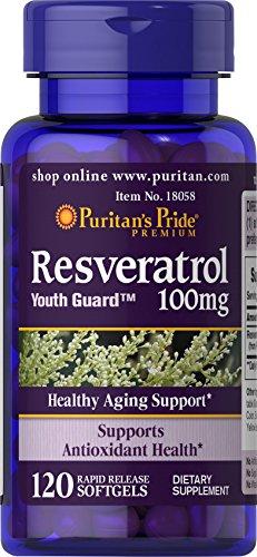 Puritan's Pride Resveratrol 100 mg / 120 Softgels