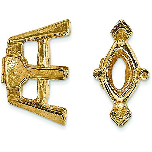 14K Gold 6 Prong Marquise V-End Setting 5x3mm
