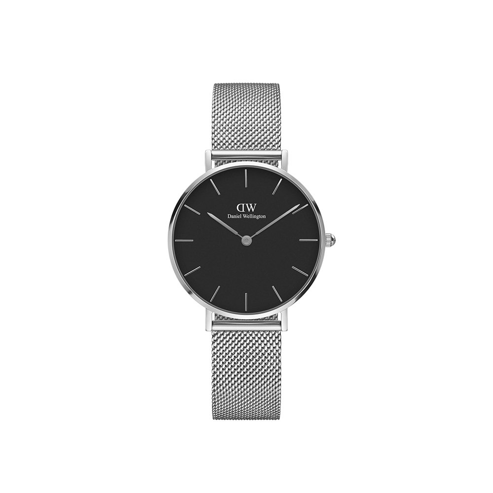 Daniel Wellington Classic Petite Sterling in Black 32mm