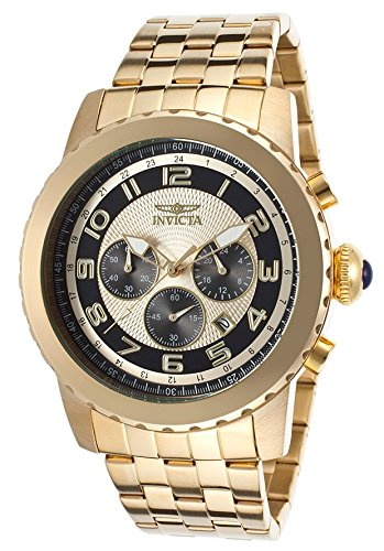 (Invicta 19463 Men's Specialty Chrono 18K Gold Plated Ss Two-Tone Dial Watch)