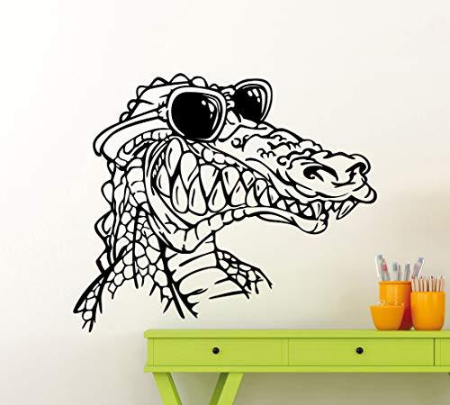 Wall Decals Decor Cartoon Crocodile Wall Decal Croc Alligator Vinyl Sticker Home Kids Boy Room Interior Decoration Waterproof