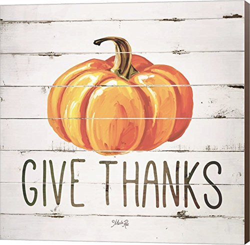 Give Thanks Pumpkin by Marla Rae Canvas Art Wall