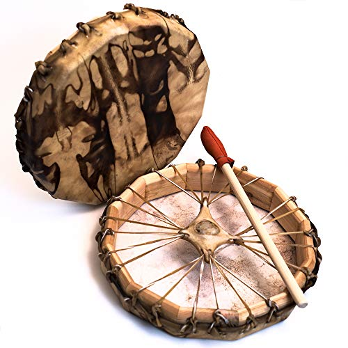 Native American Deer Hide Frame Drum 13″