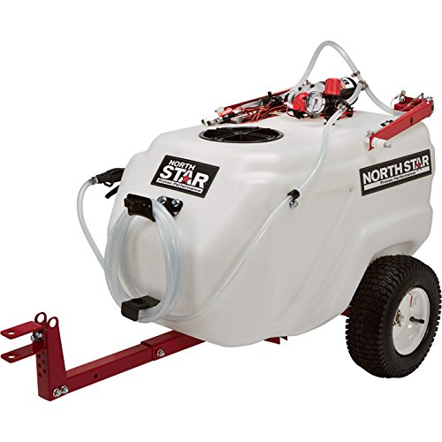NorthStar Tow-Behind Trailer Boom Broadcast and Spot Sprayer – 31-Gallon Capacity, 2.2 GPM, 12 Volt DC