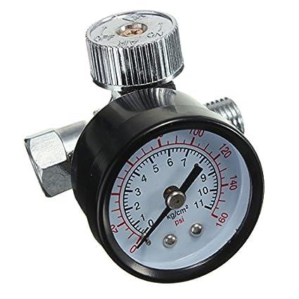 Yongse 1/4inch ajustable Mini Regulador de aire Presión Reloj de comparación HVLP spray Herramientas
