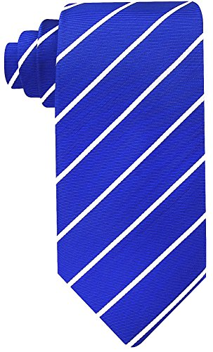 Blue Stripe Necktie (Scott Allan Mens Formal Pencil Stripe Necktie - Navy Blue/White)