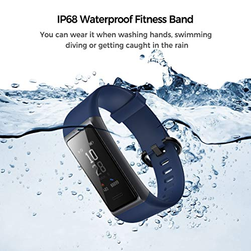 Muzili Fitness Band Activity Tracker Heart Rate Monitor IP68 Waterproof Smart Fitness Tracker Watch with Sleep Monitor Step Calorie Counter Stopwatch Call Message Notification for Women Men