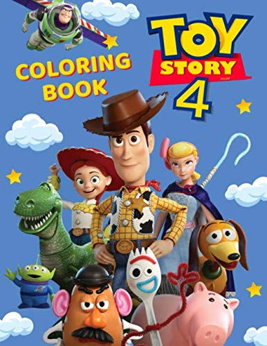 Toy Story 4 Coloring Book: Great Coloring Book for Kids and Adults - 40 illustrations (Story Toy Books Color)