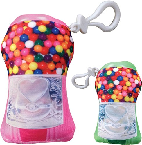 iscream Bubble Gum Scented Gumball Machine Mini Microbead Pillow Backpack Charm