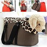 Optimum Popular Pet Handbag Size L Travel Carrier Puppy Outdoor Comfortable Color Coffee Leopard