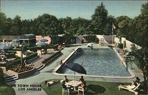The Town House Los Angeles, California Original Vintage - Angeles Los Colortone