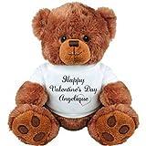 Happy Valentine's Day Angelique Bear Gift: Medium Plush Teddy Bear