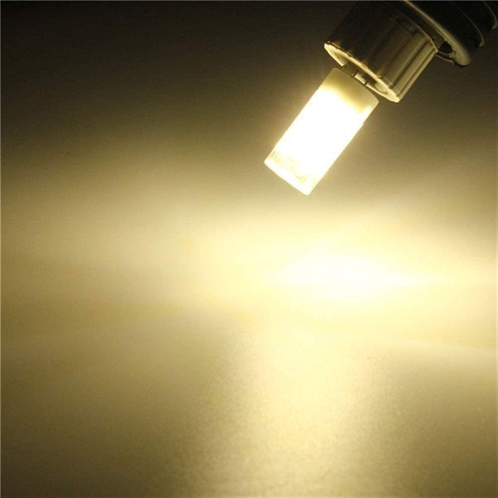 LED-Glühlampe LED G4 5W Lampen-Birnen-Keramik 44 SMD 2835 LED-Glühlampe ersetzen Halogen for Kronleuchter 110V (Color : Pure White) Natural Daylight White