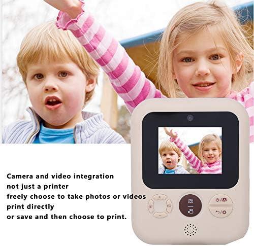 Sofortdruckkamera, 2,4-Zoll-IPS-HD-Display Kinder Digitalkamera 1200 W USB-Thermodruckerkamera für Geburtstagsreisen