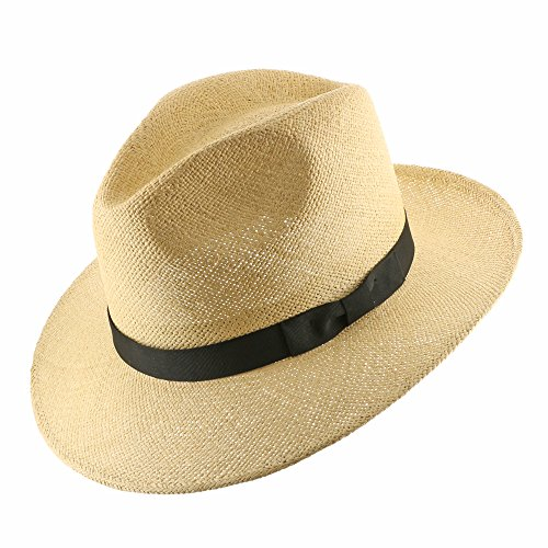 FEDORA PACKABLE FOLDABLE Panama Straw Hat CLASSIC 7 1/4