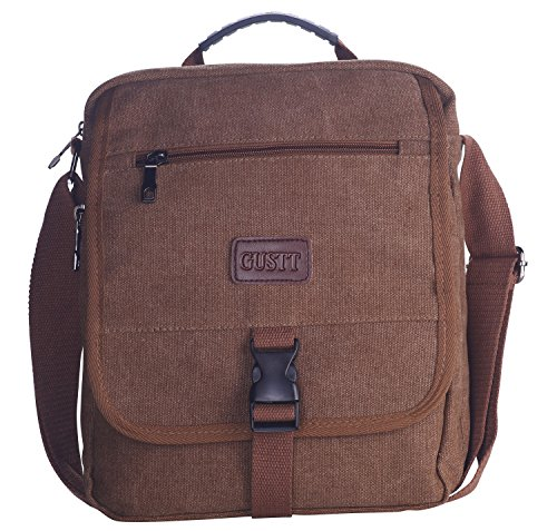 Male Bag (GUSTT® Classic Army Travel School Casual Canvas Messenger Satchel Shoulder Crossbody Handbag)