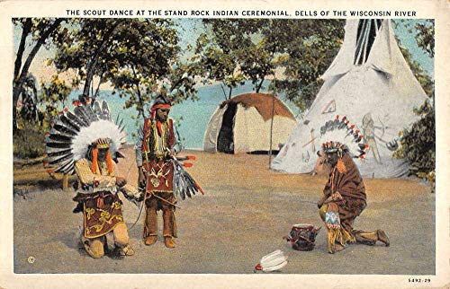 Wisconsin Dells Wisconsin Stand Rock Indian Scout Dance Postcard K102695