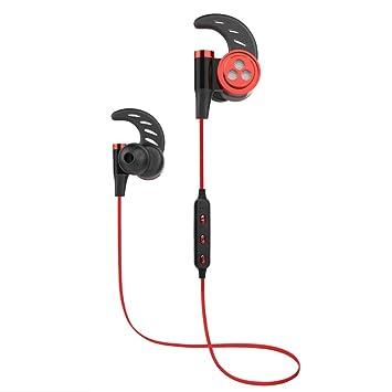 Auriculares Magnéticos Deportivos, YZCX Auriculares Bluetooth 4.1 Correr Inalámbricos Auricular Magnético Ruido de Cancelación In ear con Manos Libres Sport ...
