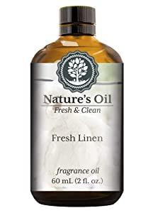Fresh Linen Fragrance Oil (60ml) For Diffusers, Soap Making, Candles, Lotion, Home Scents, Linen Spray, Bath Bombs, Slime