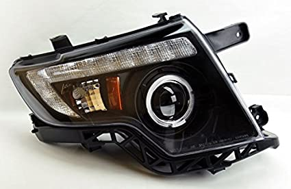 Ford Edge Black Projector Led Drl Halo Headlights Pair For Halogen Equipped