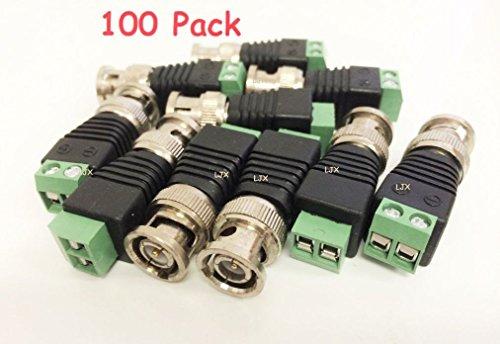 tiny-dog-100-pcs-coax-cat5-to-camera-cctv-bnc-video-balun-connector-zinc-alloy-plastic