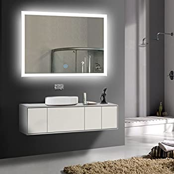 Amazon Com 36 X 28 In Horizontal Led Bathroom Silvered