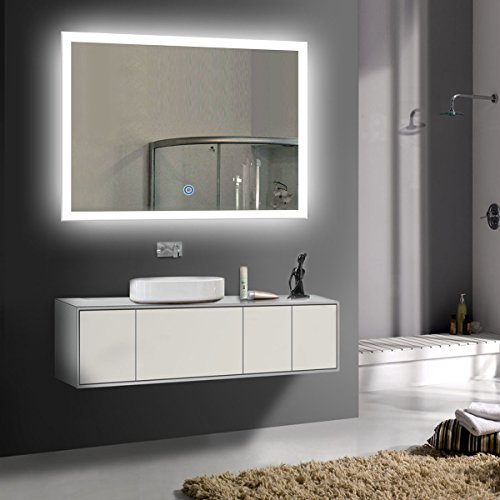 36 x 28 In Horizontal LED Bathroom Silvered Mirror with Touch Button (C-N031-I) by BHBL