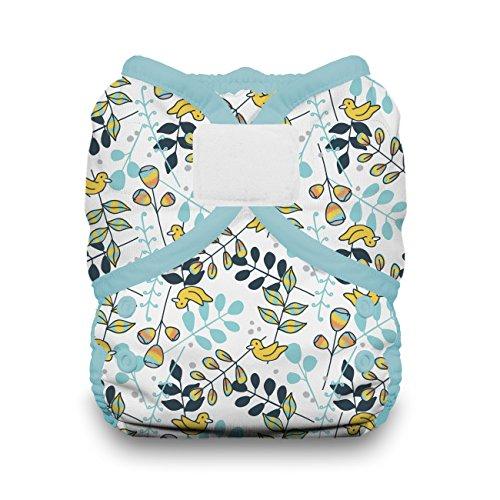 Thirsties Duo Wrap Cloth Diaper Cover, Hook and Loop Closure, Birdie Size One (6-18 lbs)