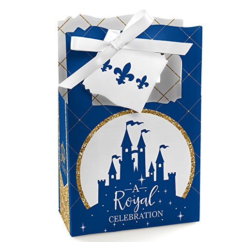 Royal Prince Charming - Baby Shower or Birthday Party Favor Boxes - Set of 12