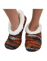 Womens Artisan Yarn Sherpa Snoozies Footcoverings