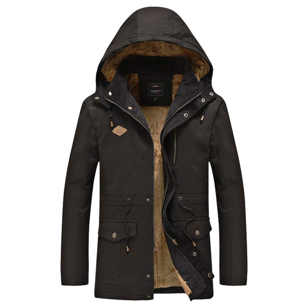 Rayem Daunenjacke, Männer Plus SAMT gepolstert mit Kapuze Baumwollmantel, Winter im Freien kalte warme Jacke, geeignet für kalte Jahreszeit