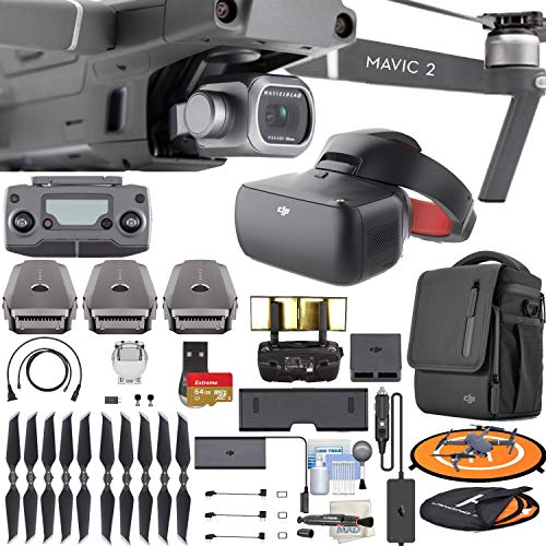 DJI Mavic 2 Pro with Hasselblad Camera Quadcopter Drone & FPV DJI Goggles RE & Fly More Kit Bundle